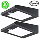 30 LED Solar Light Outdoor Xfelectronics Solar Motion Sensor Light Solar Powered Wireless Waterproof Exterior Security Solar Wall Light for Patio,Yard,Garden,Path,Driveway (2Pack)