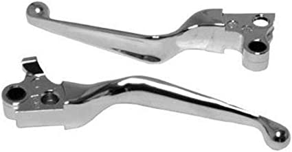 Chrome Wide Blade Hand Lever Set for 15-2018 Harley Softail