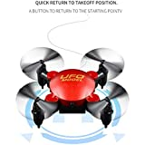 Xmas Drone, Leewa@ HJHRC 2.4G 6-axis Gyro Mini Foldable Pocket Quadcopter,3D Flip Drone with 360°Roll/One Key Return/Headless Mode