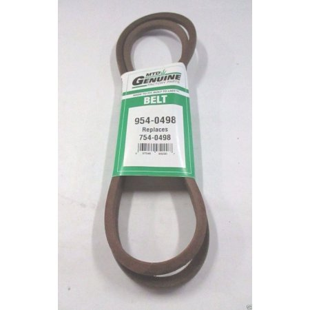 Genuine MTD Lawn Mower Belt 954/754- 0498 The product is a genuine MTD belt not a cheap aftermarket (Mtd Tractor Belts)