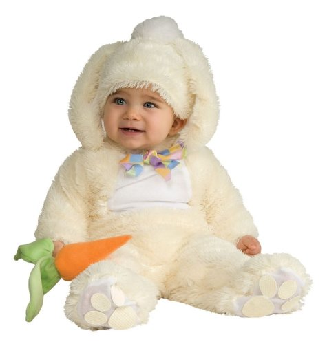 Rubie's Costume Baby Bunting Vanilla Bunny Costume, Vanilla, 0-6 Months (Infant Halloween Outfits)