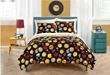 Full Size Emoji Comforter Set Emoji Complete 7 Piece Reversible Bedding Comforter Set - Full