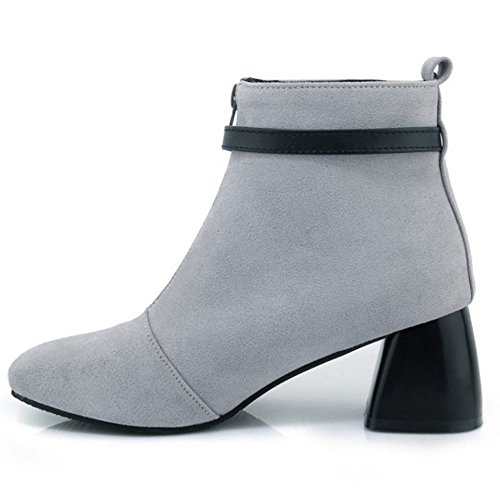Botines Botas Mujer Zanpa Grey 550 Cremalleras Dress Mode Zapatos 34Asain Invierno XcHX7CwUq