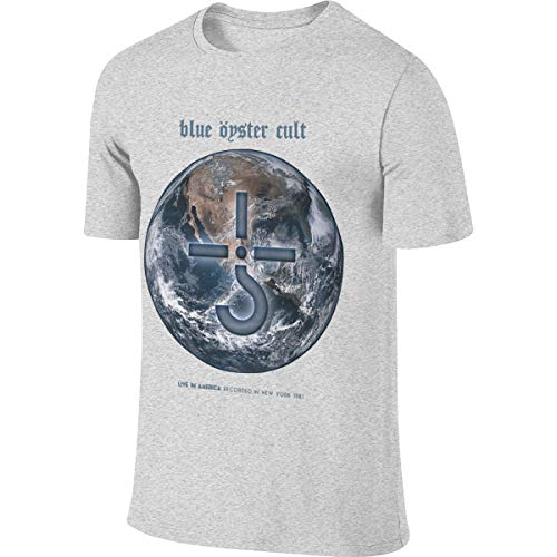 Man Cool Short Sleeves Blue Oyster Cult Music Band Fans Concert T Shirts XL Double Print