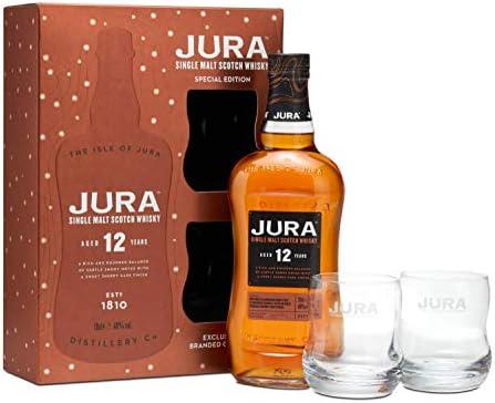 Jura - Single Malt & 2 x Glasses Gift Pack - 12 year old Whisky ...