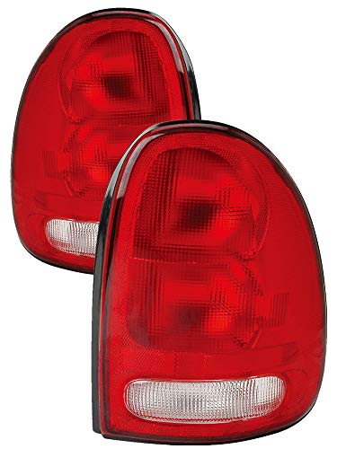 - For 1996 1997 1998 1999 2000 Dodge Caravan   Chrysler Town & Country   Plymouth Voyager   Dodge Durango Rear Tail Light Taillamp Driver Left and Passenger Right Side Pair Set Replacement