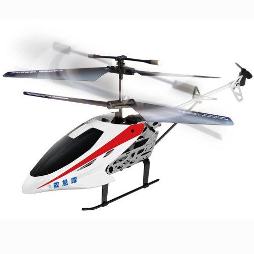 ・ホワイト 救急隊 ラジコン ヘリコプター 250mm BIGサイズ RC緊急グランドヘリコプターDX ラジコン 飛行機 メタルフレームヘリ