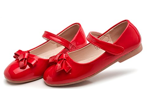 WLITTLE Bailarinas para niña Rojo