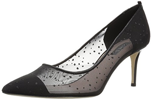 SJP by Sarah Jessica Parker Women's Glass 70 Pump, Black Raindrops Fabric, 39 B EU (8.5 US) by SJP by Sarah Jessica Parker