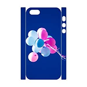 3D Dustin Balloon IPhone 5,5S Case Antislip Colorful Balloons Blue Sky, Iphone 5s Case Cheap [White]