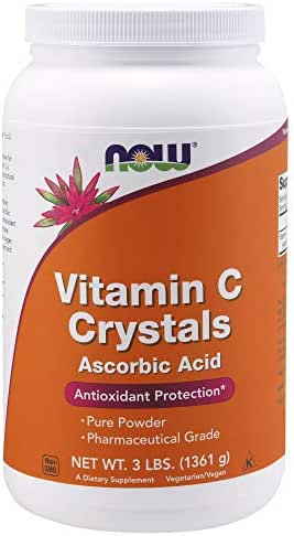 NOW Supplements, Vitamin C Crystals, 3-Pound