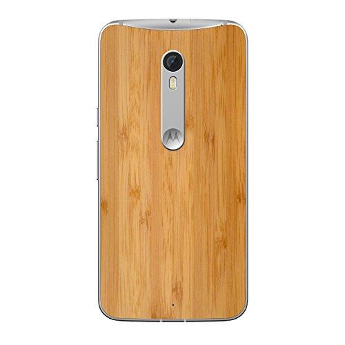 Moto X Pure Edition Unlocked Smartphone, 64GB White/Bamboo (U.S. Warranty)