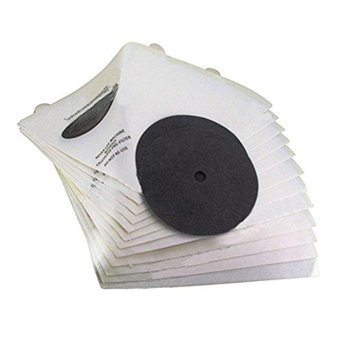 Paquete Spares2go de 12 filtros de aspiradora conicos para aspiradora de filtro Q