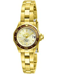 Women's 12527 Pro-Diver 18k Gold Ion-Plated Stainless Steel and Champagne Dial Bracelet Watch
