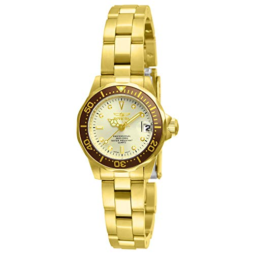 Invicta Women's 12527 Pro-Diver 18k Gold Ion-Plated Stainless Steel and Champagne Dial Bracelet Watch ()