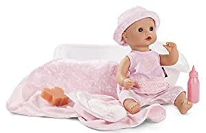 "Gotz Sleepy Aquini Hearts 13"" Drink & Wet All Vinyl Bath Baby Girl Doll - 10 Piece Set for Ages 3+"