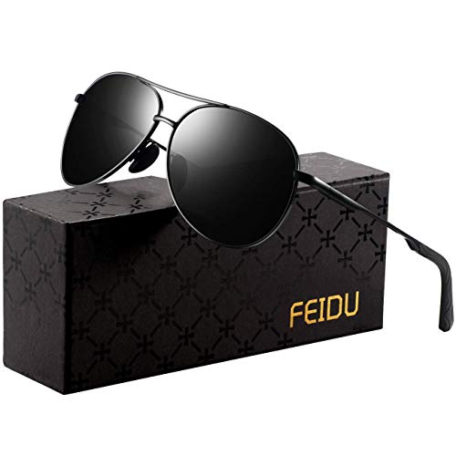 Polarized Sunglasses Aviator Sunglasses for Men - FEIDU Polarized Aviator Sunglasses for Men Sunglasses Man FD9002 ()
