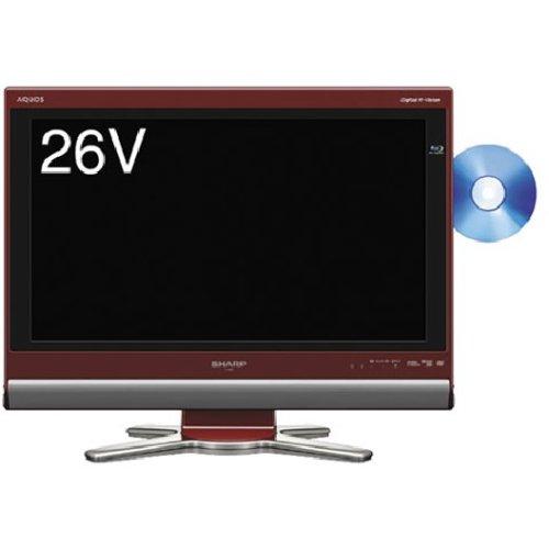 シャープ 26V型 液晶 テレビ AQUOS LC-26DX1-R ハイビジョン ブルーレイレコーダー内蔵  2008年モデル   B001JBFQFI