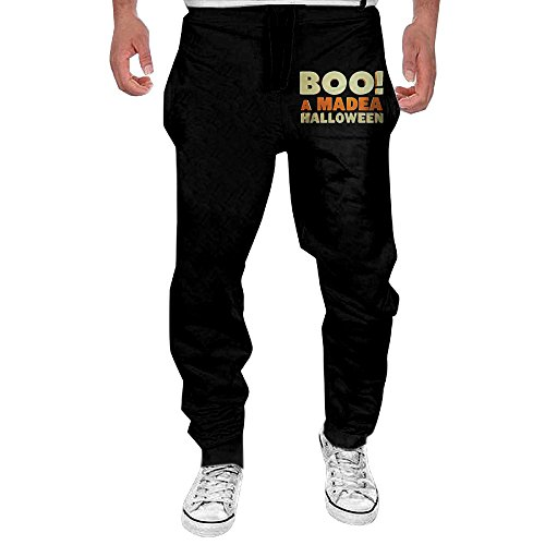 Men's US Comedy Horror Film Elastic Fleece Pant Black (Madea's Halloween Cast)