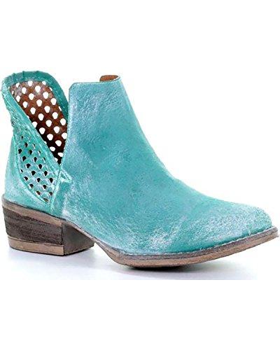 Corral Womens Turquoise Uitsparing Shortie Laars Ronde Neus - Q5026 Turquoise
