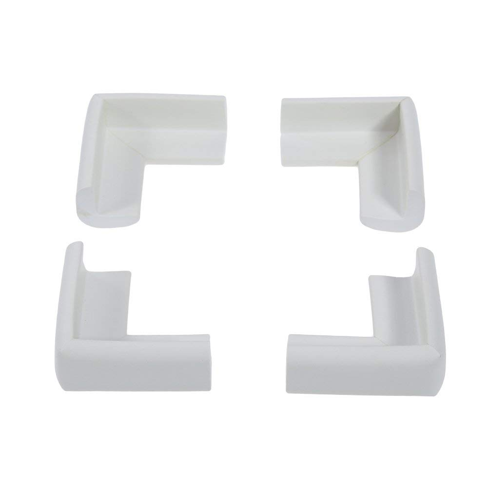 4Pcs Soft Edge Bumper Baby, Thickened Foam Edge Protector Table Edge Covers Safety Corner Edge Guards for Toddler, Baby and Kids White Durable and Useful
