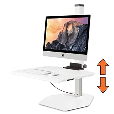 Stand Steady Winston for Apple iMac Single Sit-Stand Desk (Innovative WNST-APL-1)   Single Monitor Standing Desk Workstation Converter with VESA-Compatible Mount  Height Adjustable! (iMac/1 Monitor)