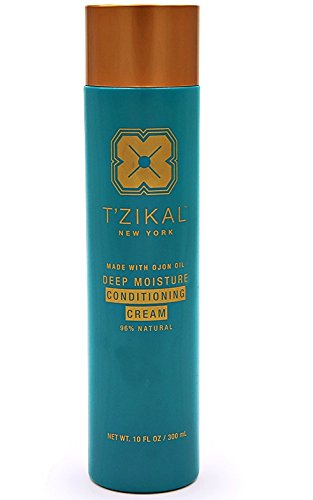 T'zikal Deep Moisturizing Conditioning Cream with Ojon Oil for Restorative Hair Treatment - Smooth, Silky, All Natural Conditioner made with Essential Oils for all Hair Types (Large) from T'zikal
