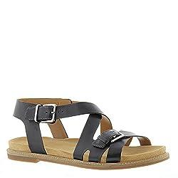 Clarks Women's Corsio Bambi Sandal Black Leather US 7 M