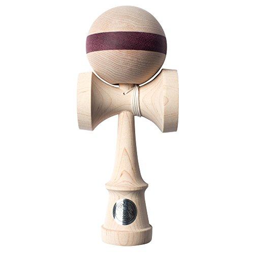 Homegrown Next Gen Maple Purple Heart Stripe Wooden Kendama 806 Phs By Sweets Kendamas Colors Natural Maple Wood Purple Heart Wood