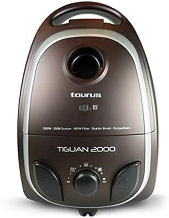 Taurus Tiguan 2000 - Aspirador, 2000 W, 350 W de succión, capacidad de depósito 4 l: Amazon.es: Hogar