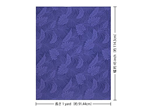 Blue Hawaiian Classic Fabric ([Classic] Blue Purple Monstera pattern Fab-2022PPBL [Hawaiian fabric, Hawaiian print])