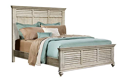Sunset Trading CF-2302-0489-KB Shades of Sand King Bed, Antique White