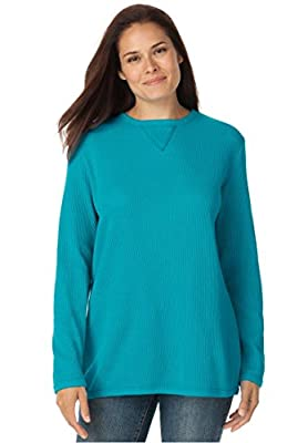 Women's Plus Size Top, Sweatshirt In Soft, Colorful Thermal Knit