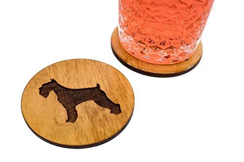 Hard Coated Scottish Terrier Coasters - Set of 4 Handmade Engraved 3.5