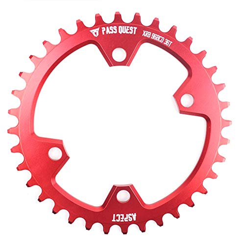 - Beautylady 36T Narrow Wide Chainring Ultra Light 96 BCD Oval Chainwheel with 4 Bolts for Most Bicycle