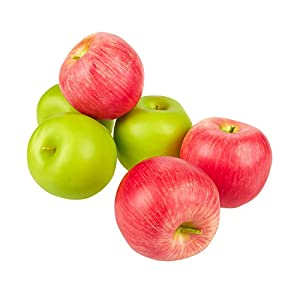 Juvale Fake Fruit Artificial Apples 2.5 Inches (Set of 6) 96