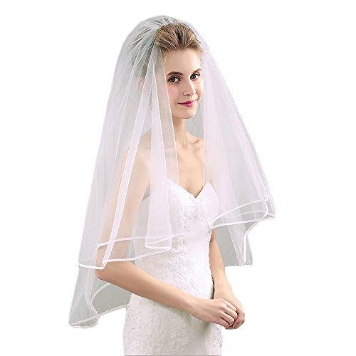 ivory dress and white veil - 8