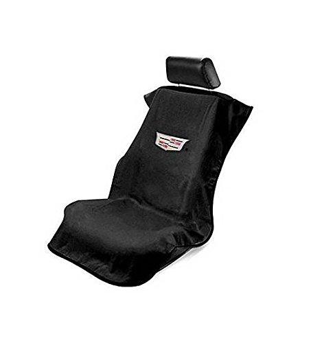Logo Car Seat Towel (Seat Armour SA100CADB Black 'Cadillac' Seat Protector Towel)