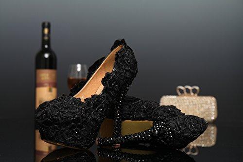 Semelle Miyoopark femme Black compensée Heel 14cm 7qqRd