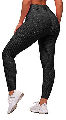 Memoryee Leggings de Compression Anti-Cellulite Slim Fit Butt Lift Elastique Pantalon de yoga taille haute avec poches…