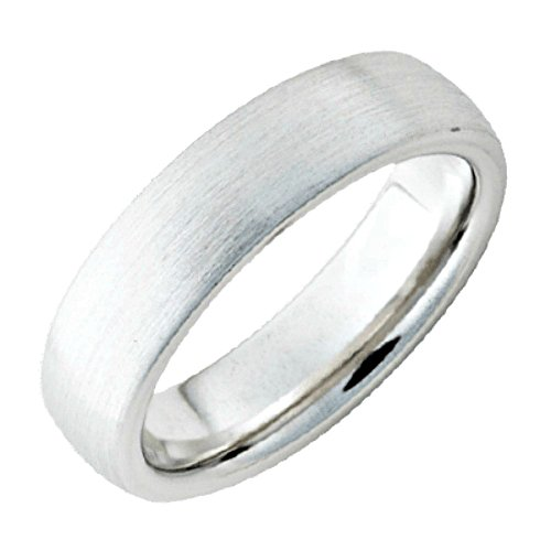 Roy Rose Jewelry ~ Serinium Satin Finish Domed Band 6mm Wide Ring ~ Size 8