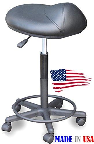 916 Prime Salon Hair Cutting Stool Saddle Anti-Fatigue chair by Dina Meri by Dina Meri