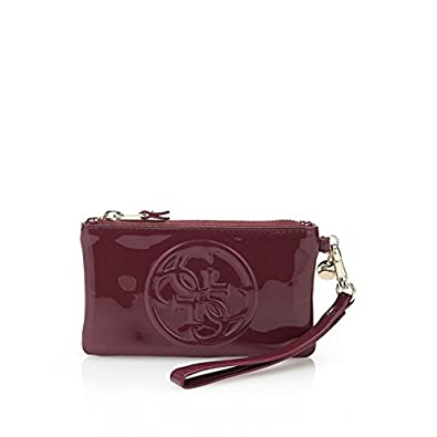 1fb3f023b2 Pochette Guess Amy Shine Pouch Lie De Vin: Amazon.fr: Chaussures et Sacs