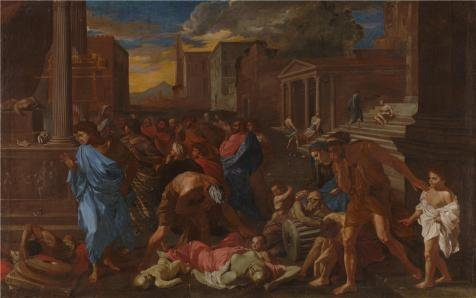 High Quality Polyster Canvas ,the Beautiful Art Decorative Prints On Canvas Of Oil Painting 'Angelo Caroselli - The Plague At Ashdod (after Poussin),1631', 18x29 Inch / 46x73 Cm Is Best For Home Theater Decoration And Home Decoration And (Spider Man Noir Costume)