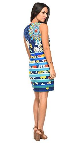 Marine Robe 101 Bleu Idees Femme THqZaCw8a0