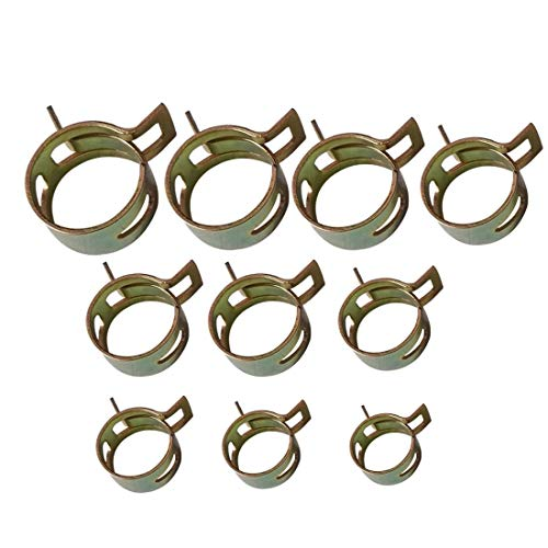 Clamp - 10pcs Set 6.0mm 15mm Spring Band Type Fuel Vacuum Hose Silicone Pipe Tube Clamp Clip Steel Zinc - Airtight Clamping Assortment Guide Keyboard Jewelry Device Tractor Power Jars Electri