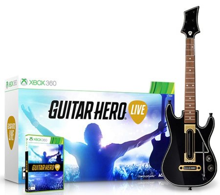 - Guitar Hero Live Bundle (Xbox 360) Guitar and Game