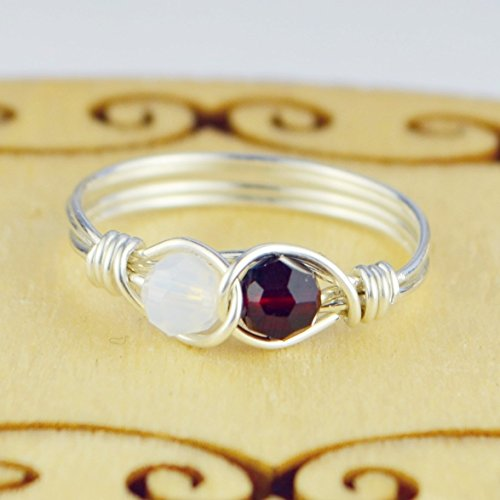 Crystal Birthstones Infinity Sterling Wrapped product image