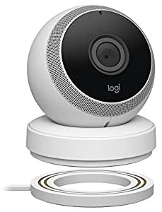 Logitech Circle Wireless HD Video Battery Powered Security Camera with 2-way talk - White, Works with Alexa