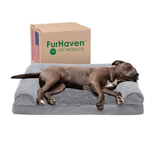 Furhaven Pet Dog Bed, Large Dog Beds for Large Dogs, Medium Small Dog Beds for Medium Small Dogs, Dog Bed Orthopedic…